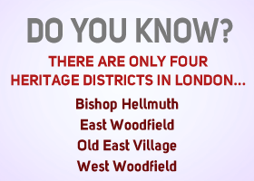 Do you know there are only three heritage districts in London?